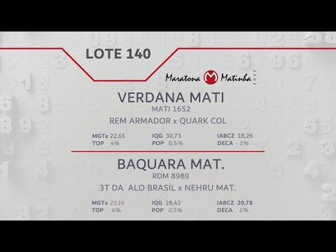 LOTE 140 Maratona Matinha