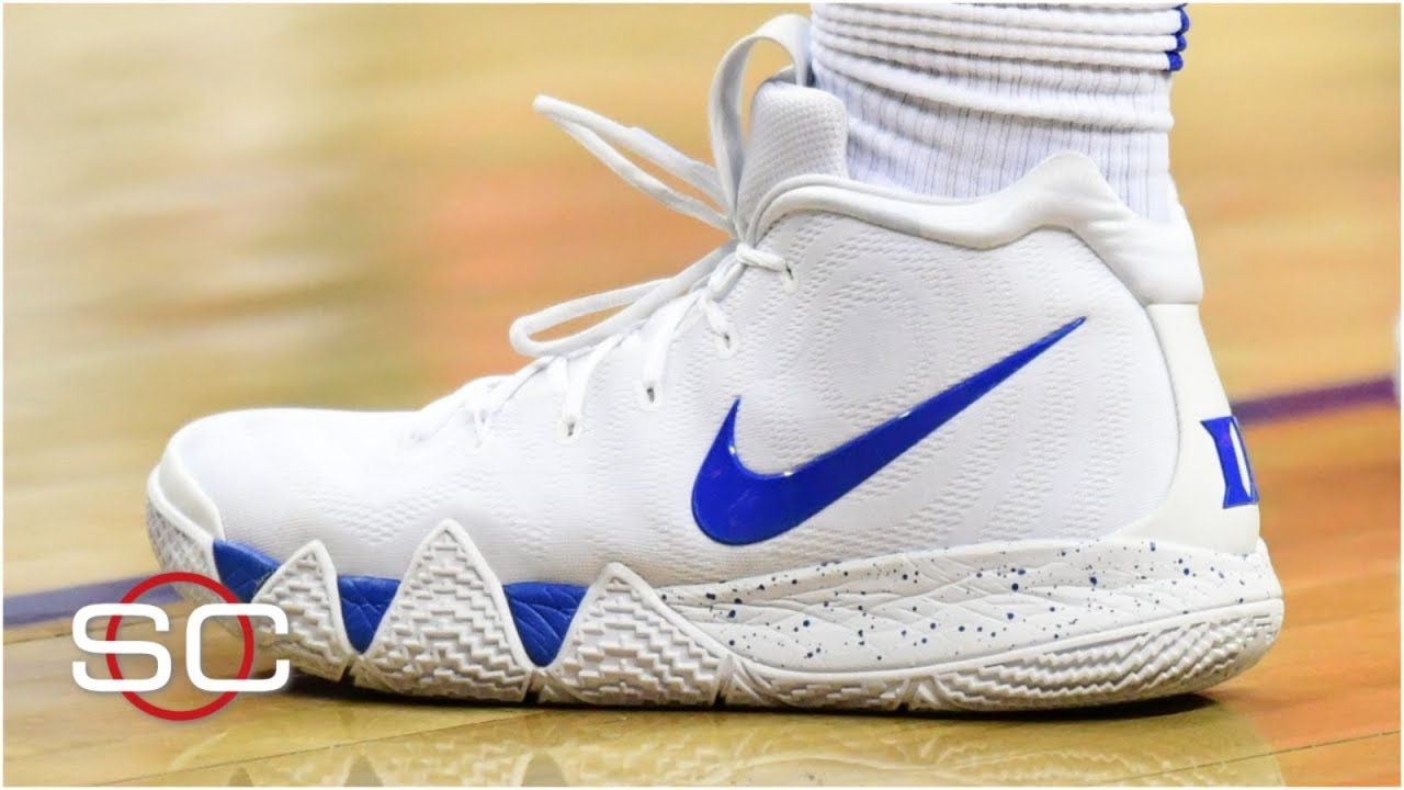 innovative design e26eb 071d4 How Zion Williamson's new custom Kyrie 4s came about | SportsCenter