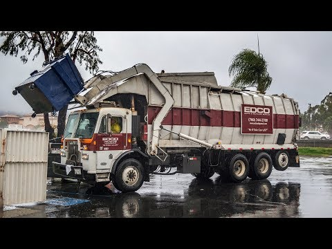 Peterbilt 320 - Maxon Legal One Front Load Garbage Truck