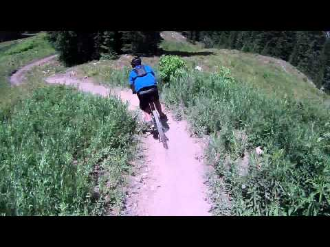 MOUNTAIN BIKE TOP TO BOTTOM  SNOWMASS COLORADO VAPOR TO VALHALLA JUNE 30 2012