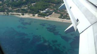 Transavia Landing  Mytilini Lesbos, Greece - Boeing 737-7K2 (nice view)