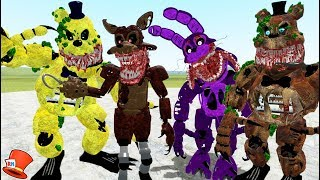 THE TWISTED ONES ANIMATRONICS PILL PACK MOD! (Gmod For Kids RedHatter)
