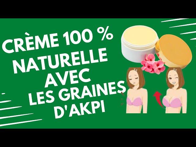 Crème 100% naturelle avec les graines d'akpi #volumefesses#seins#fenugrec#beurredekarité#