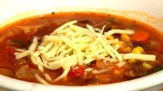 Vegetarian Tortilla Soup Recipe : Soup Recipes