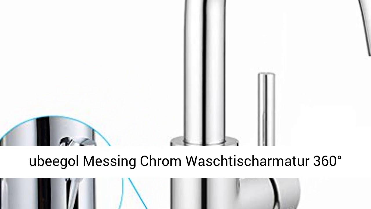 360° Drehbar Waschtischarmatur Waschbecken Wasserhahn Badarmatur Einhandmischer