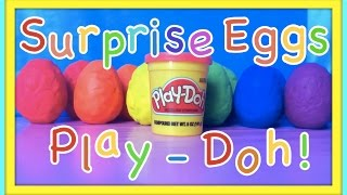 Learn Colours Surprise Nesting Eggs Disney Collector Hello Kitty Play Doh Spiderman