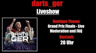 PDC Grand Slam of Darts 2019 FINALE - LIVE MODERATION - FAQ - Darts_Ger Liveshow