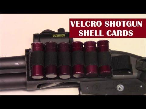 Velcro Shotgun Shell Holder/Card: Fast Reloads, Lots of Ammo