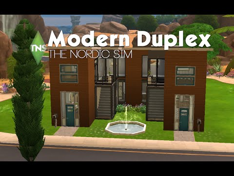 Modern Duplex | The Sims 4 Build
