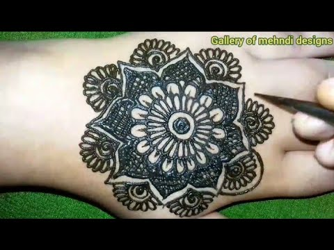 New easy& beautiful back hands mehndi design tutorial for beginners ll by Gallery of mehndi designs thumbnail