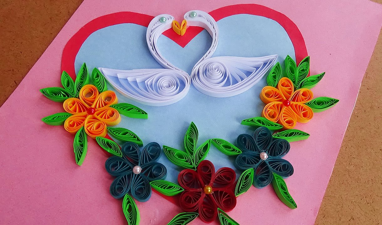 Paper art how to make beautiful quilling heart with swans paper paper art how to make beautiful quilling heart with swans paper quilling art youtube kristyandbryce Choice Image