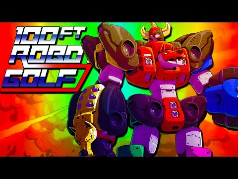 GOLFING WITH GIANT ROBOTS?!  (100ft Robot Golf!)