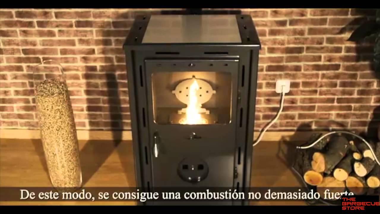 estufa policombustible pellet y le a mod artico youtube. Black Bedroom Furniture Sets. Home Design Ideas