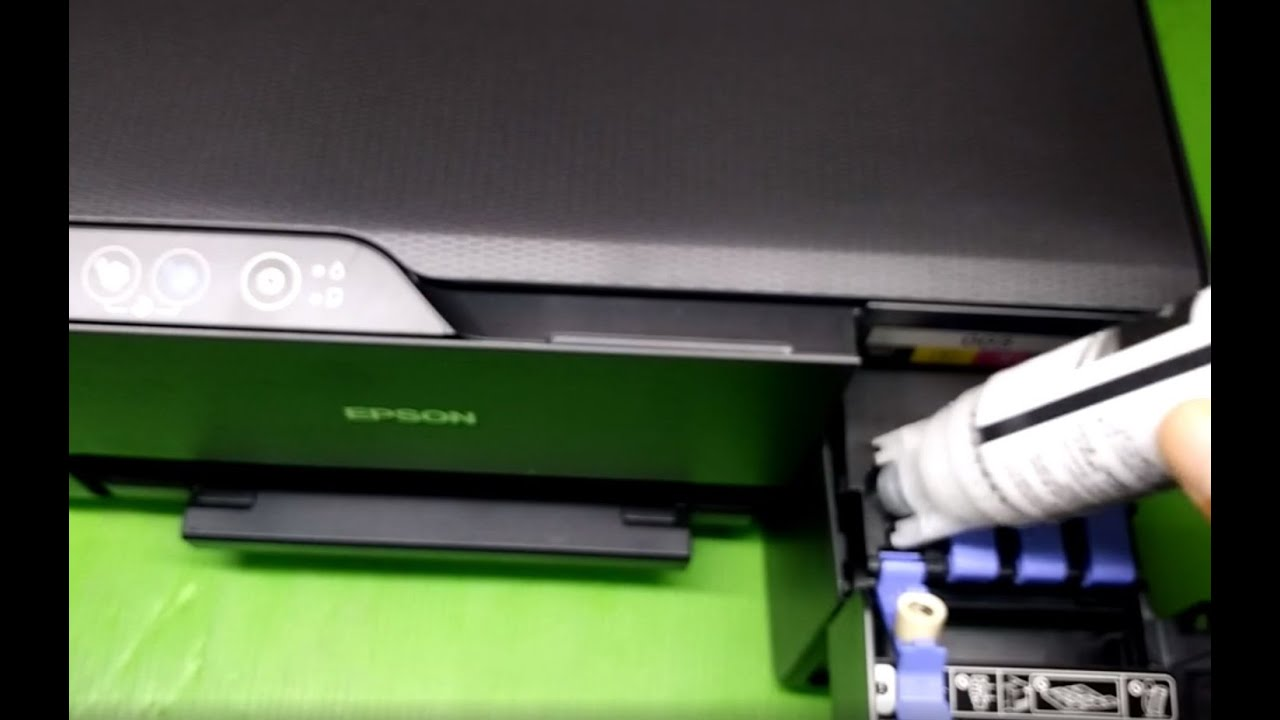 Epson L3110 L3150 How to refill ink bottles วิธีเติมหมึก