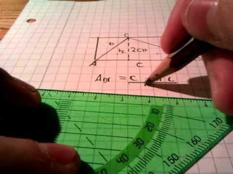 fl cheninhalt beim dreieck berechnen mathematik leicht. Black Bedroom Furniture Sets. Home Design Ideas