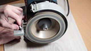Установка алмазной чашки на точило Bosch GBG 6