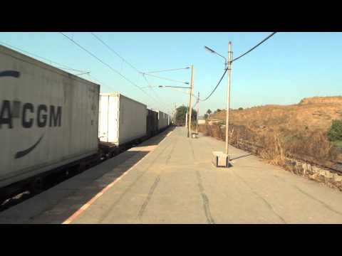 SUPERWHITE AIR CONDITIONED REFRIGERATED FREIGHT TRAIN IN ALL ITS GLORY AT VAITARNA