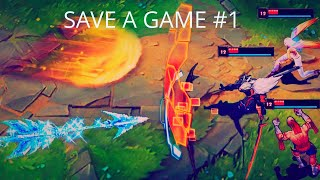 HOW TO SAVE A GAME 1 !! ( League of Legends )