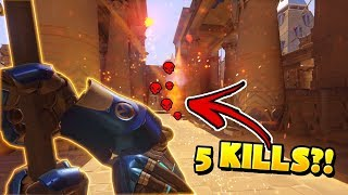 He Got 5 Kills With One Fire Strike?!? - Overwatch Funny Moments & Best Plays 25