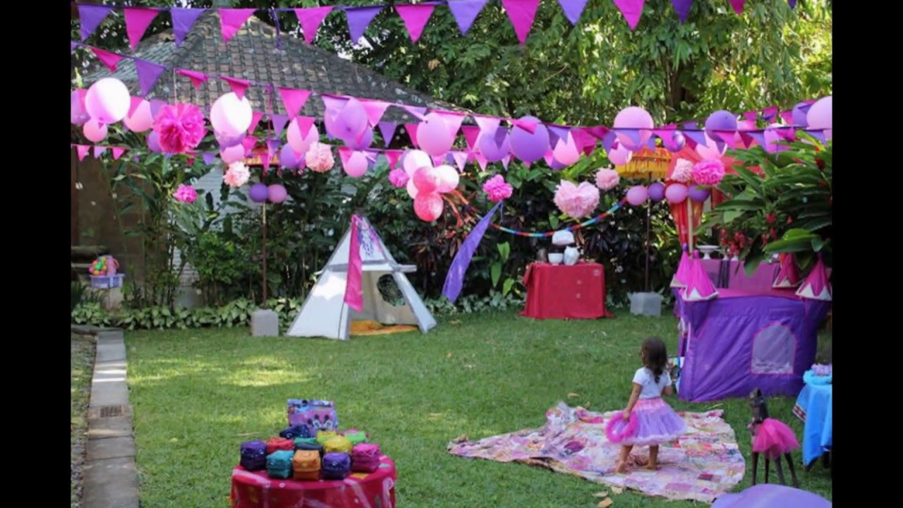 Birthday party garden decoration ideas youtube for Garden decoration ideas