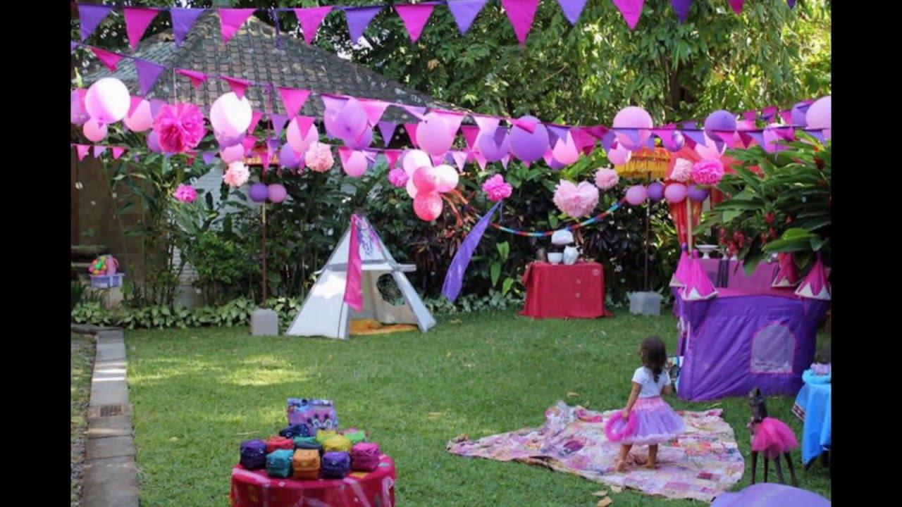 Birthday party (garden decoration ideas) - YouTube