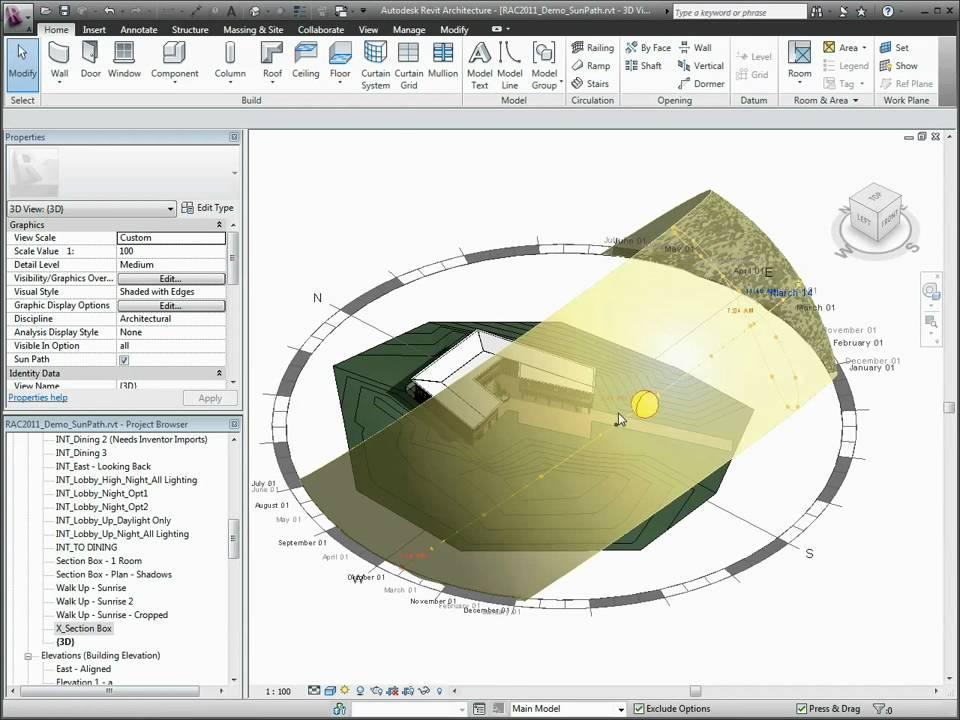 Autodesk Revit Architecture 2011 Sun Path Simulation