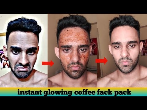 Coffee Face Pack (hindi)! Instant skin whitening treatment for men and women