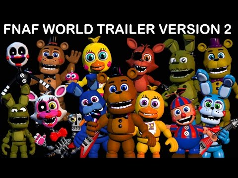 THE ANIMATRONICS REACT TO: FNAF World Trailer #2