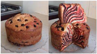 KEKI YENYE NEMBO TATUJINSI YA KUPIKA KEKI YENYE NEMBO TATU TAMU SANACOLOURED CAKE MARBLE CAKE