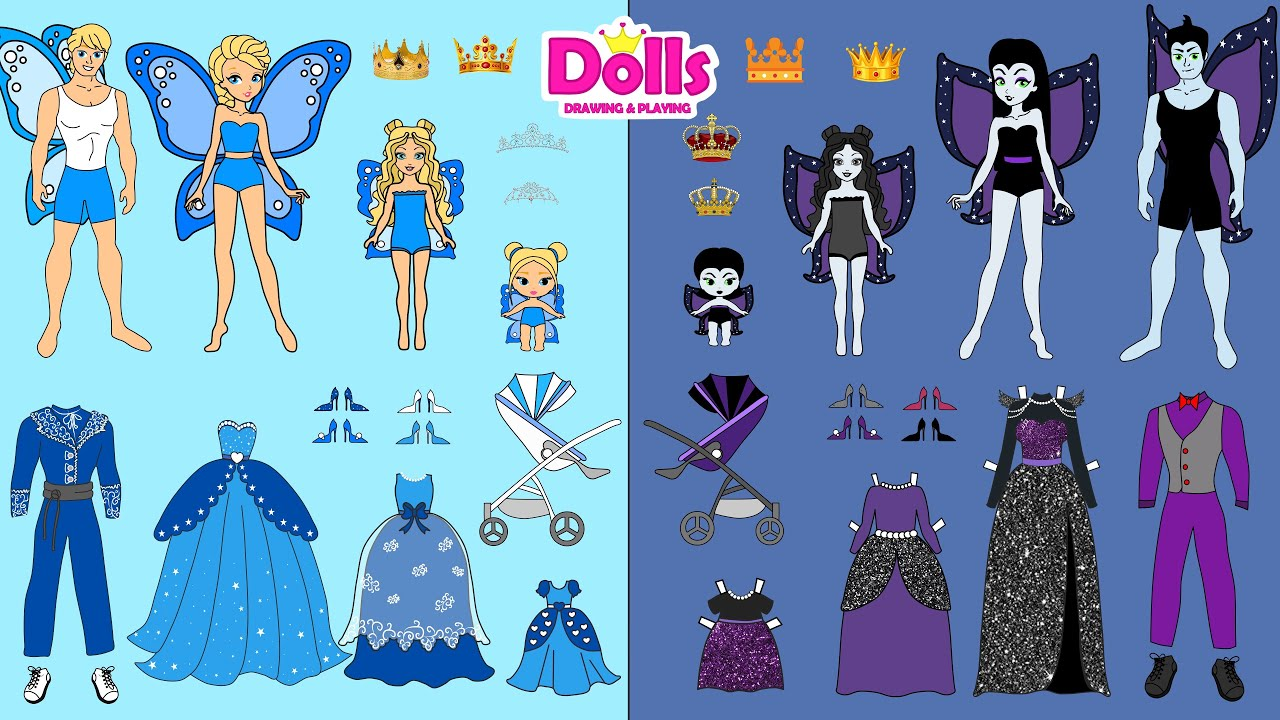 Download MY 5 FAVORITE VIDEOS WITH GOOD & BAD PAPER DOLLS VAMPIRE FAIRY & PRINCESS COMPILATION