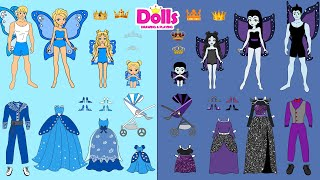 MY 5 FAVORITE VIDEOS WITH GOOD & BAD PAPER DOLLS VAMPIRE FAIRY & PRINCESS COMPILATION