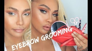 UPDATED EYEBROW TUTORIAL | TWEEZERMAN X HUDA BEAUTY | SONJDRADELUXE