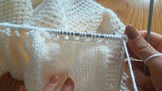 Cepli nohut bebek yeleği örgü modeli  Bebek yelek modeli  Örgü yelek (yakadan başlamalı model)