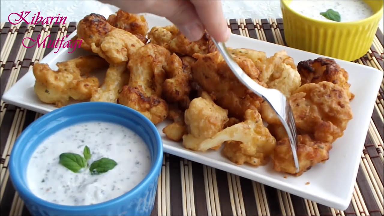 Sodalı çıtır çıtır soslu karnabahar kızartması tarifi - Karnabahar Yemeği yapılışı-  Yemek tarifleri