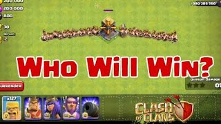 200 Raged Barbarian Vs 1 Crusher | Who Will Win? Clash of Clans private server | coc attack