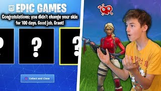 100 DAYS USING THE SAME SKIN in Fortnite... (world record)
