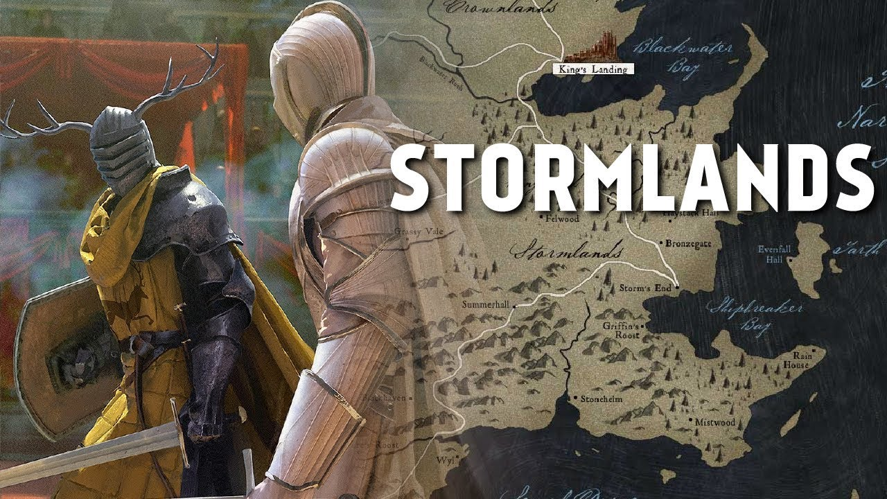 the Stormlands - Map Detailed (Game of Thrones)