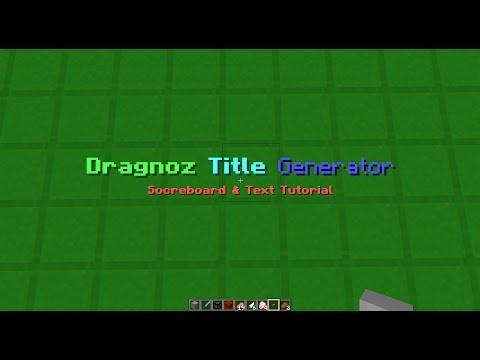 Title Generator Tutorial Including Scoreboard Display