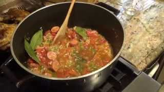 Jambalaya Great Dish Is Cooking!! Rob And Tee In The Kitchen