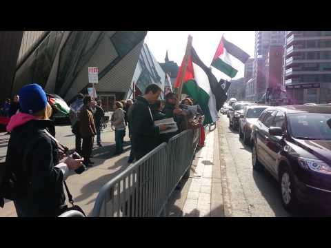 Anti Israeli demonstration in Toronto 17-04-2014