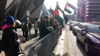 Anti Israeli demonstration in Toronto 17-04-2014