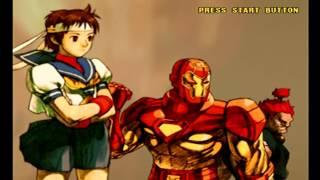 Marvel Vs Capcom 2 Gameplay (Dreamcast)
