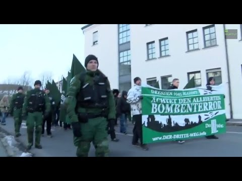 LIVE: Demo and counter-protest on Dresden WWII bombing anniversary