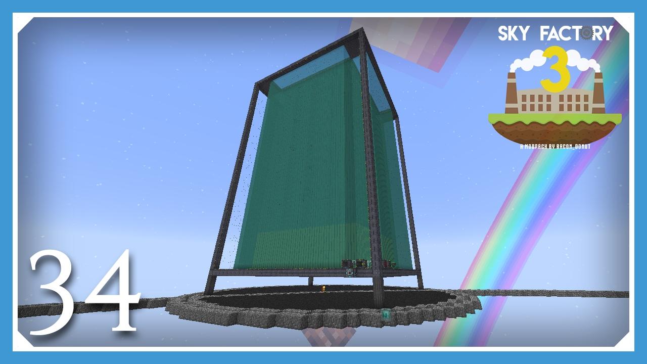 FTB Sky Factory 3 | Maximum Size Extreme Reactor! | E34 (Modded Skyblock  Minecraft 1 10 2)