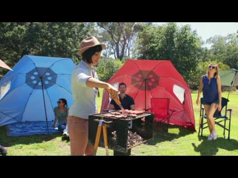 Sport-Brella XL Instant Outdoor Family Shelter Umbrella on QVC