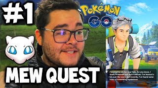 QUEST TO MEW #1 - Pokémon GO *RESEARCH* Gameplay Release & Mew Update!