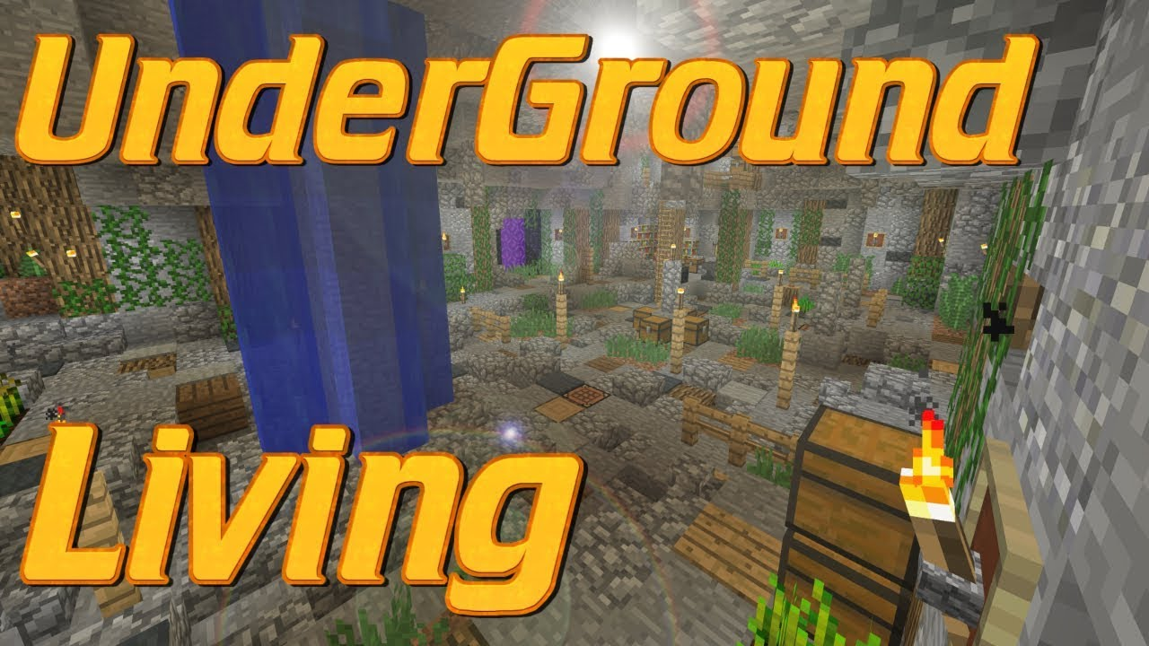 How To Make An Underground Base In Minecraft Minecraft Cave Base