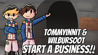 TommyInnit & WilburSoot start a Business on Dream's Minecraft Server...