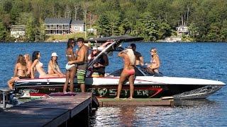 """Wakeboarding, Nova Scotia 2015 """"Wake-Up Weekend"""" ( Winch & Wake Setter)"""