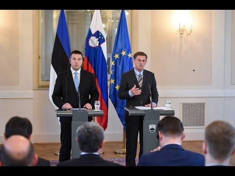 Novinarska konferenca predsednikov vlade Slovenije in Estonije, dr. Mira Cerarja in Jürija Ratasa